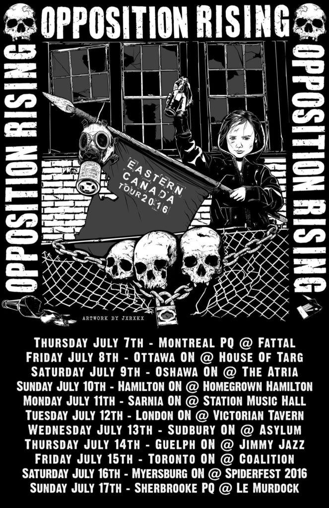 Opposition Rising Announces Eastern Canadian Tour For July